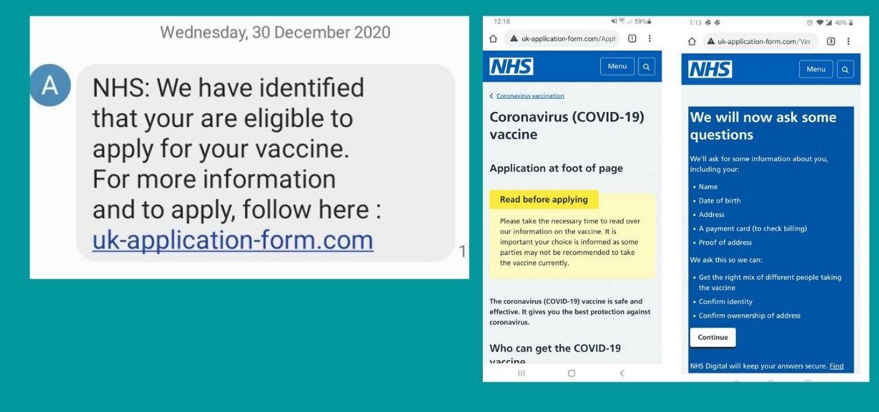 Fake text identifying you as eligible for Covid-19 vaccine | Neighbourhood  Watch Network